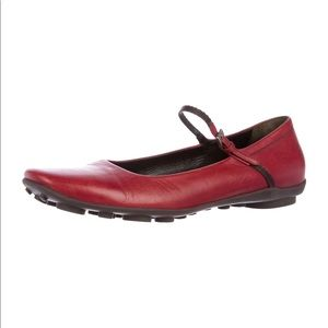 Prada Mary Jane loafers Crimson Red size 8.5